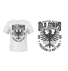 heraldic eagle t-shirt print mockup military club vector image