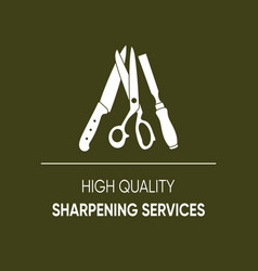 High quality sharpening services icon vector