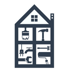 Housing maintenance silhouette vector