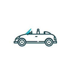 Isolated roadster car vehicle design vector
