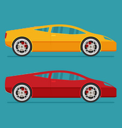 Isolated sport cars flat design style vector
