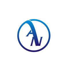 letter an logo design template vector image