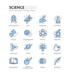 Line Science Icons vector