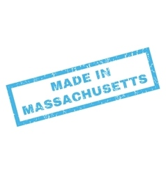 Made in massachusetts rubber stamp vector