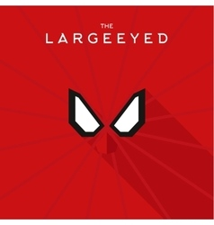 Mask Largeeyed Hero superhero flat style icon vector