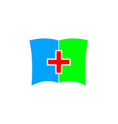 medic book icon logo design element vector image