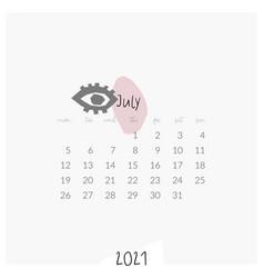 modern template printable 2021 calendar vector image