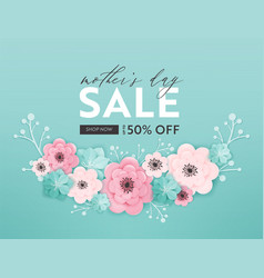 mothers day sale design spring promo banner vector image