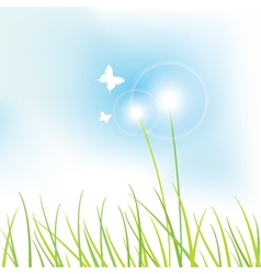 Nature background vector image