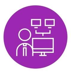 Network administrator line icon vector