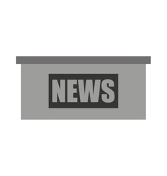 news podium isolated icon design vector image
