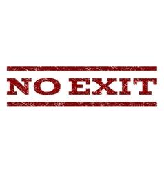 No Exit Watermark Stamp vector