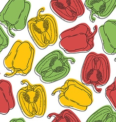 Pepper pattern background vector image