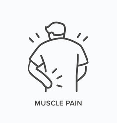 person with backache line icon outline vector image
