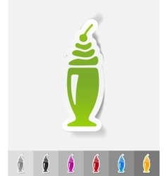 Realistic design element dessert in a glass vector
