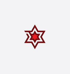 red star logo symbol sign element vector image