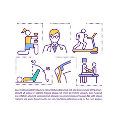 Rehabilitation concept icon with text vector