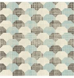 Retro hexagonal pattern vector