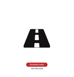 road perspective icon vector image