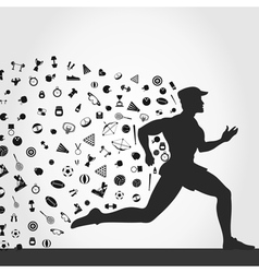 Runner sports vector image