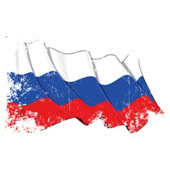 Russia national flag grunge vector