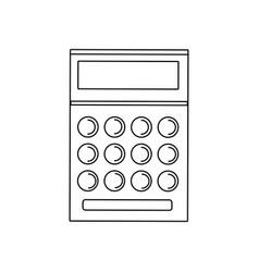 School calculator math number accounts vector