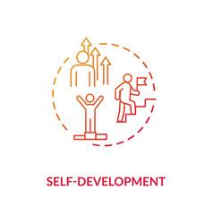 Self development red gradient concept icon vector