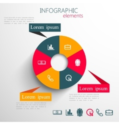 Set abstract 3d paper infographic elements vector