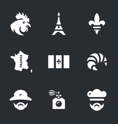 set france icons vector image