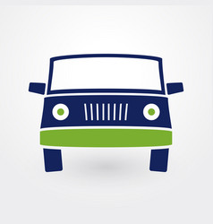 silhouette of a car from the front vector image