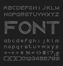 sketched font Alphabet and number design vector image
