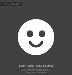 Smile premium icon white on dark background vector