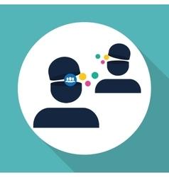 Social media design media icon communication vector