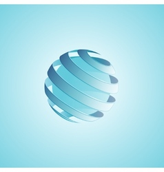 Spiral Sphere Abstract Lines vector image