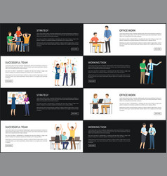 strategy successful team set vector image