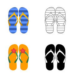 summer colorful flops set vector image