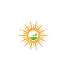sun ilustration logo vector image