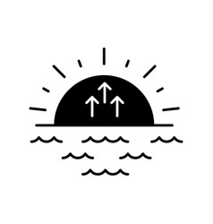 Sunrise black glyph icon vector