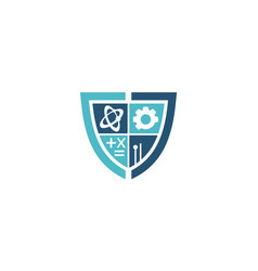 technology science study shield support vector image