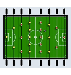 Top view table football game vector