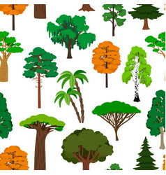 trees pattern on white vector image