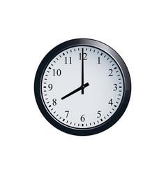 Wall clock set at 8 o clock vector