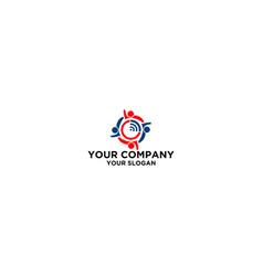 wlan forum community logo design vector image