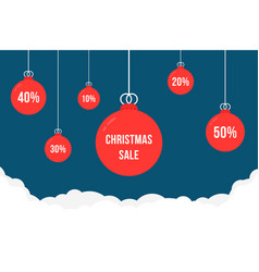 xmas tree toys like christmas sales or discount vector image