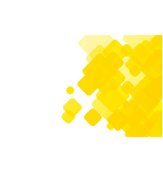 Yellow rounded shapes background vector
