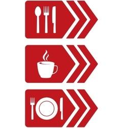 Arrow with food sign vector