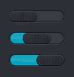 black slider with blue bar vector image vector image