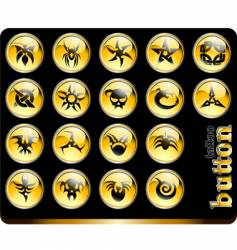 tattoo buttons vector image