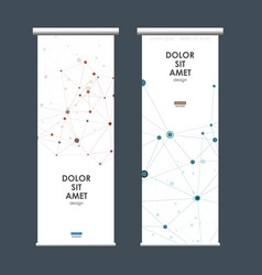 abstract molecules design on roll up template vector image