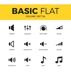 Basic set of icons vector image vector image